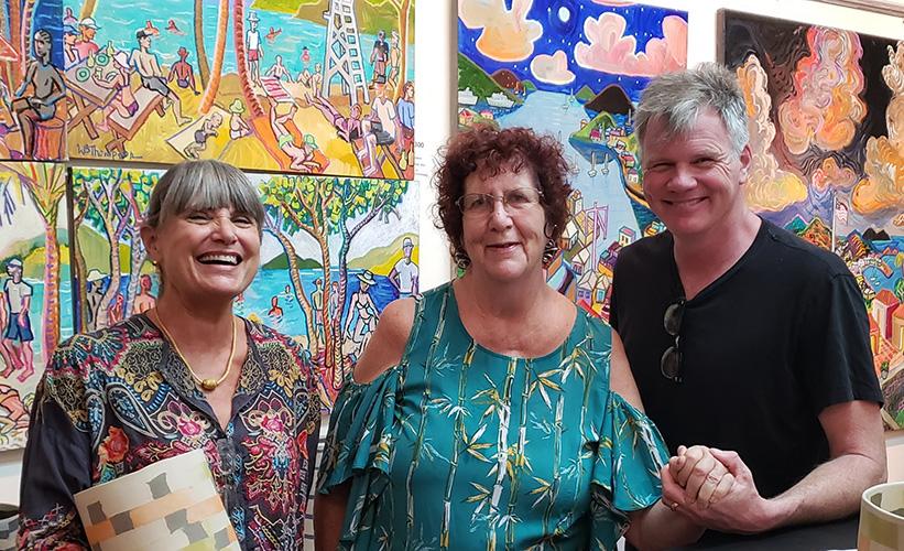 Jane at Mango Tango art gallery