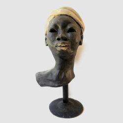 Sculpture 7.24 x 7 x 9.5 w/ stand 14.25 high $700 For more information: 340-777-3060 mangotango3000@gmail.com